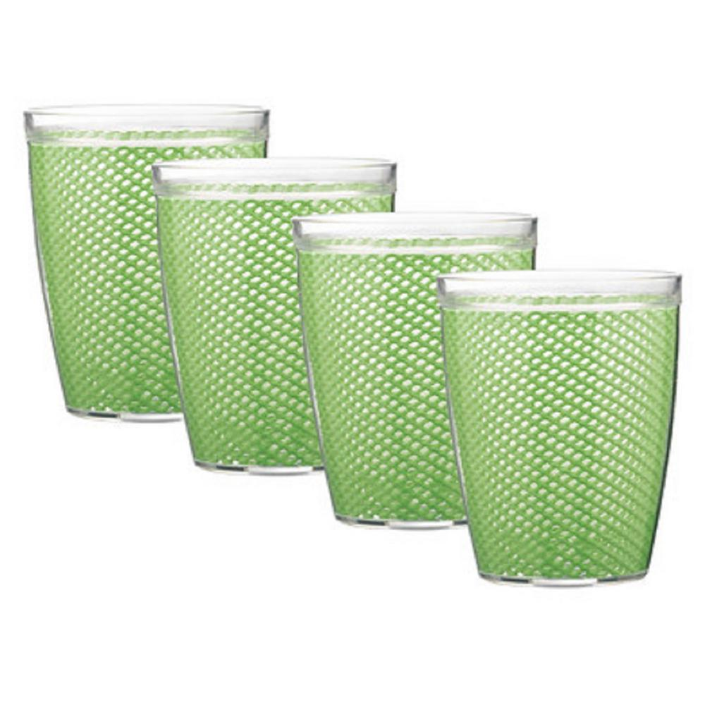 Fishnet 14 oz. Mist Green Insulated Drinkware (Set of 4)