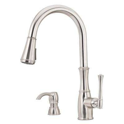Wheaton Single-Handle Pull-Down Sprayer Kitchen Faucet in Stainless Steel
