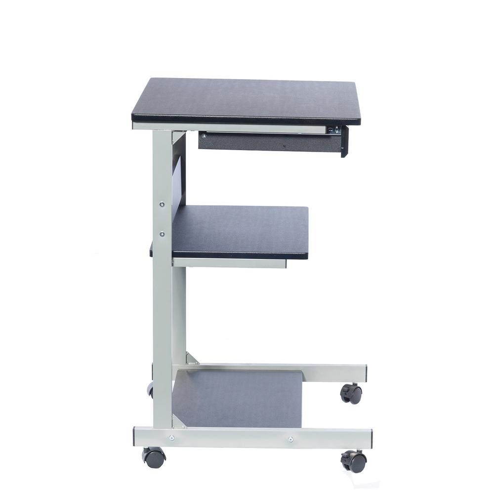 Graphite Rolling Laptop Cart With Storage Rta B018 Gph06
