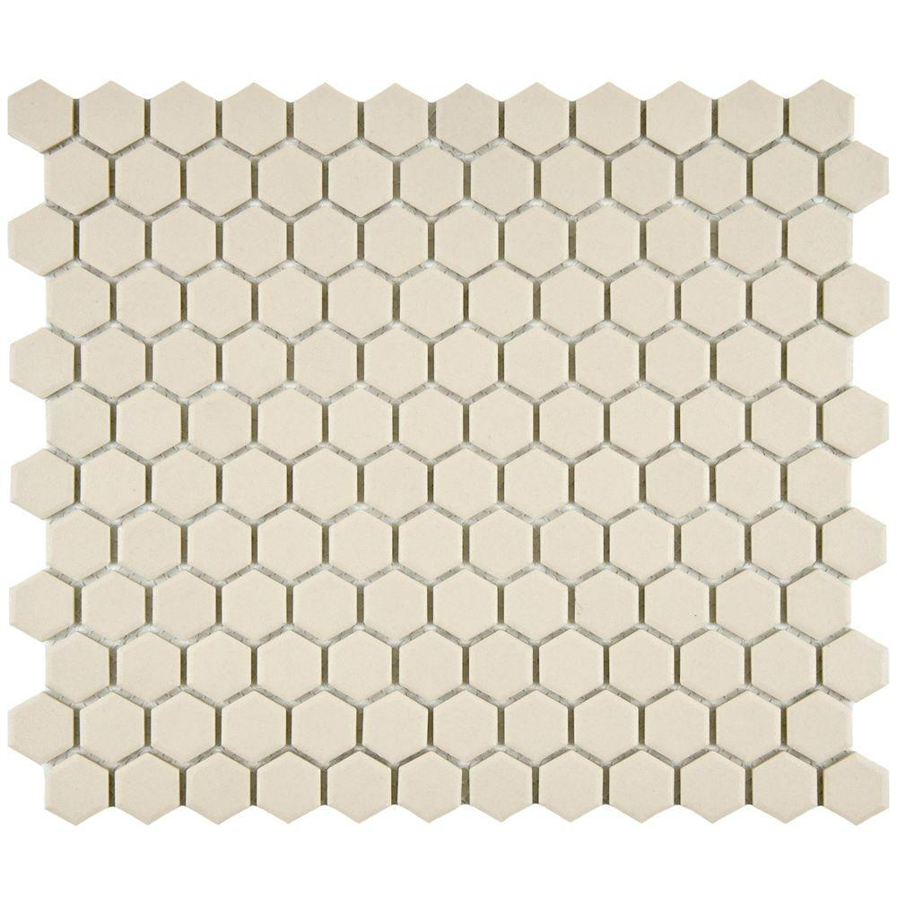 Heritage Hex Natural 10-1/4 in. x 11-3/4 in. x 5 mm