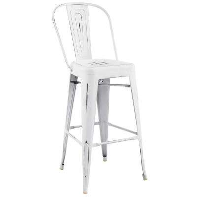 Promenade White Bar Side Stool