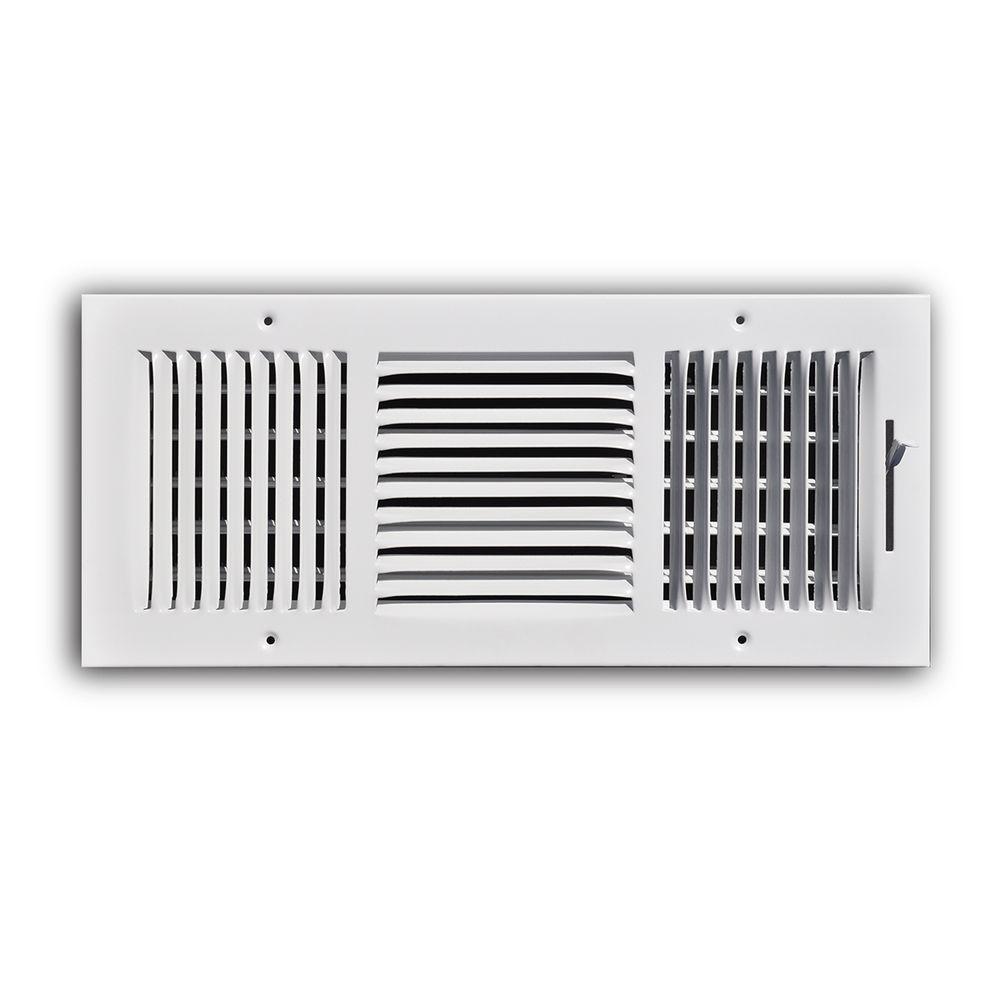 TruAire 16 in  x 6 in  Steel 3 Way Wall/Ceiling Register