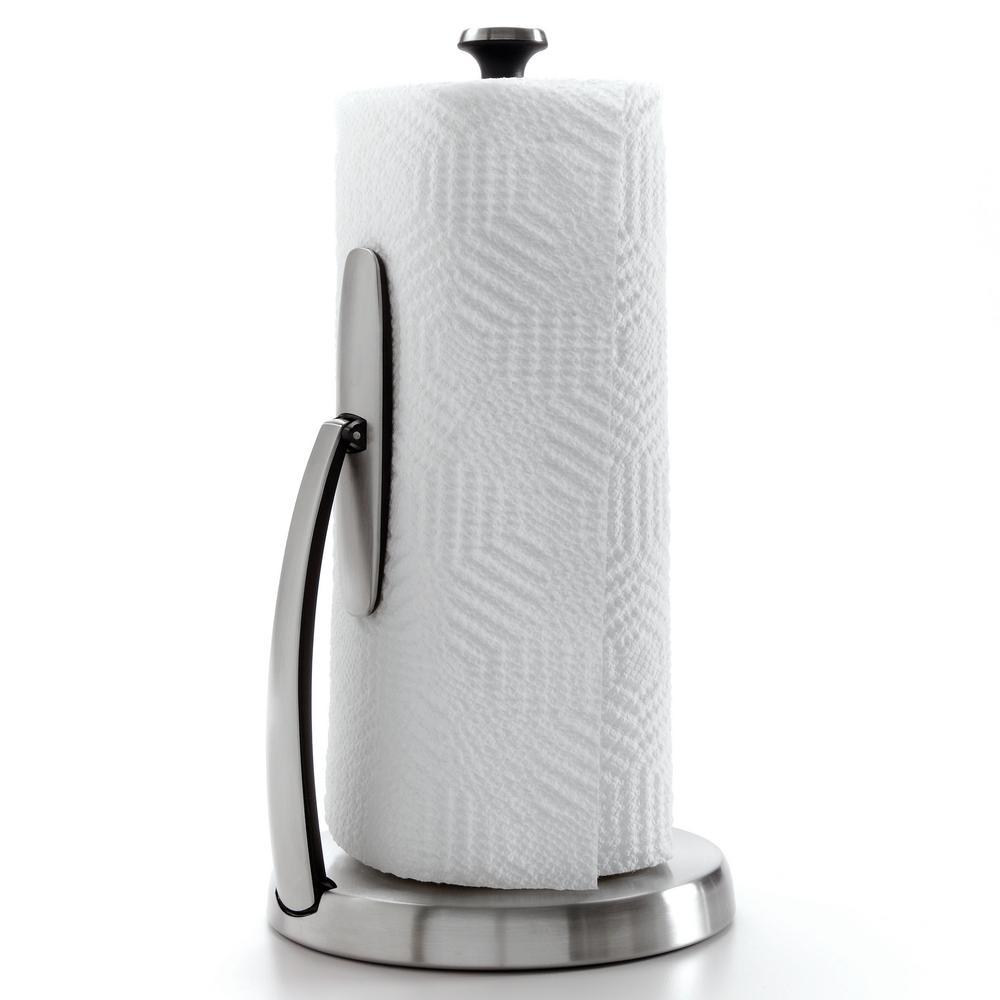 Good Grips SimplyTear Tension Arm Paper Towel Holder in Stainless Steel