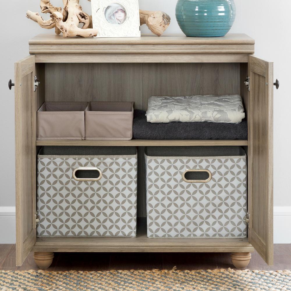 South Shore Hopedale Rustic Oak 2-Door Storage Cabinet