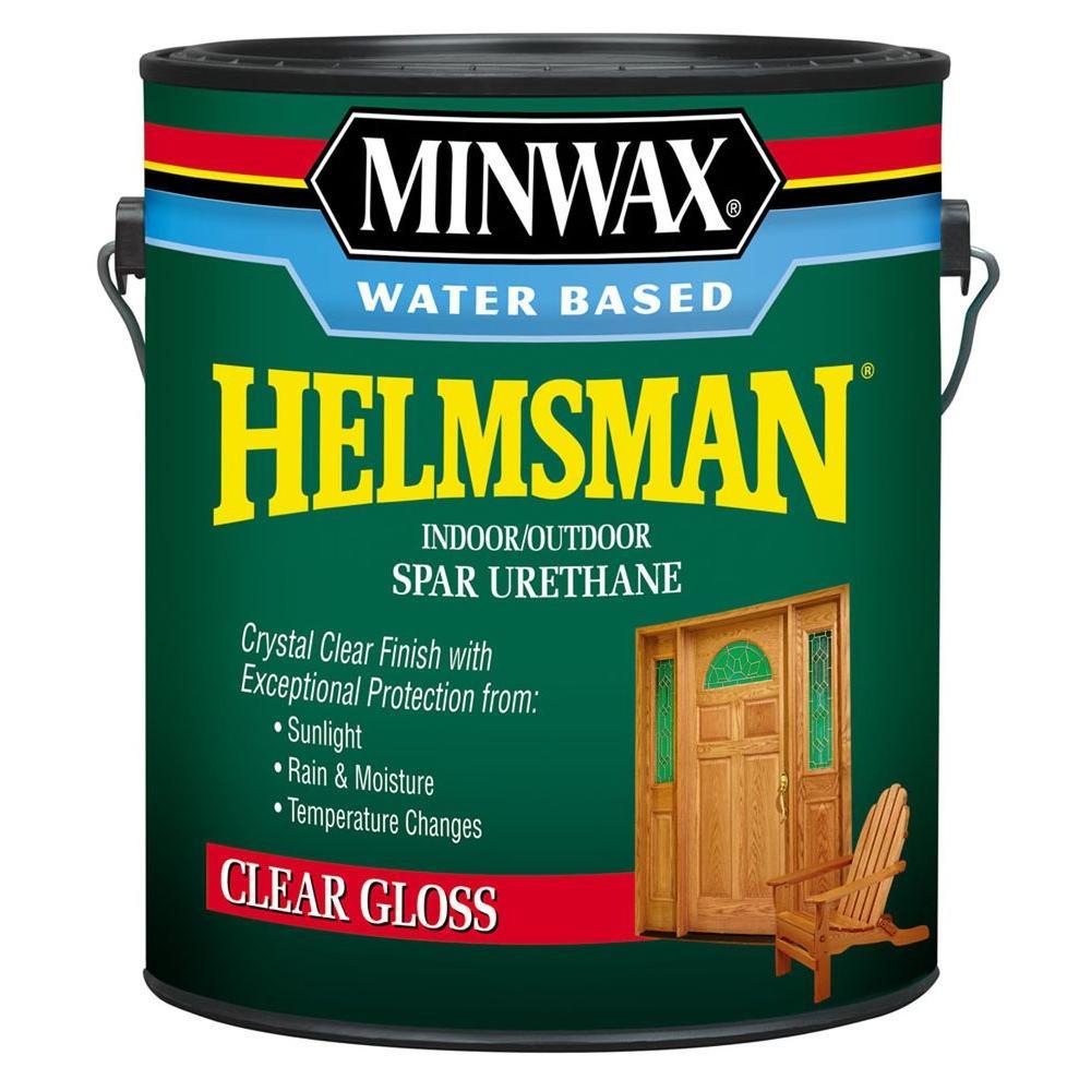 1 gal. Clear Gloss Water Based Helmsman Indoor/Outdoor Spar Urethane