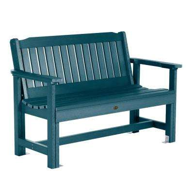 Exeter 52 in. 2-Person Nantucket Blue Plastic Outdoor Bench