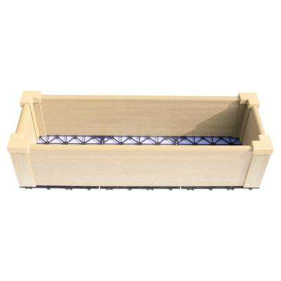 12 in. x 36 in. Japanese Cedar Composite Lumber Patio Raised Garden Bed Kit