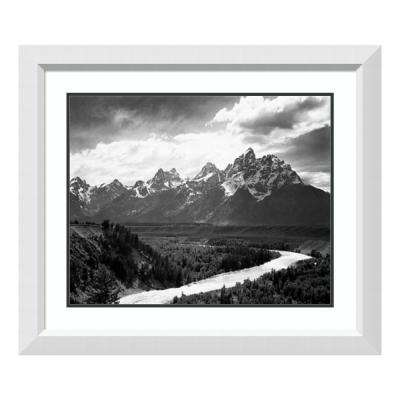 """""""View from river valley, river in foreground, Grand Teton National Par"""" by Ansel Adams Framed Wall Art"""