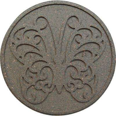 18 in. x 18 in. Reversible Butterfly Earth Rubber Stepping Stone (4-Pack)