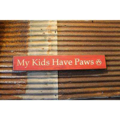 18 in. Red Pine Wood Sign