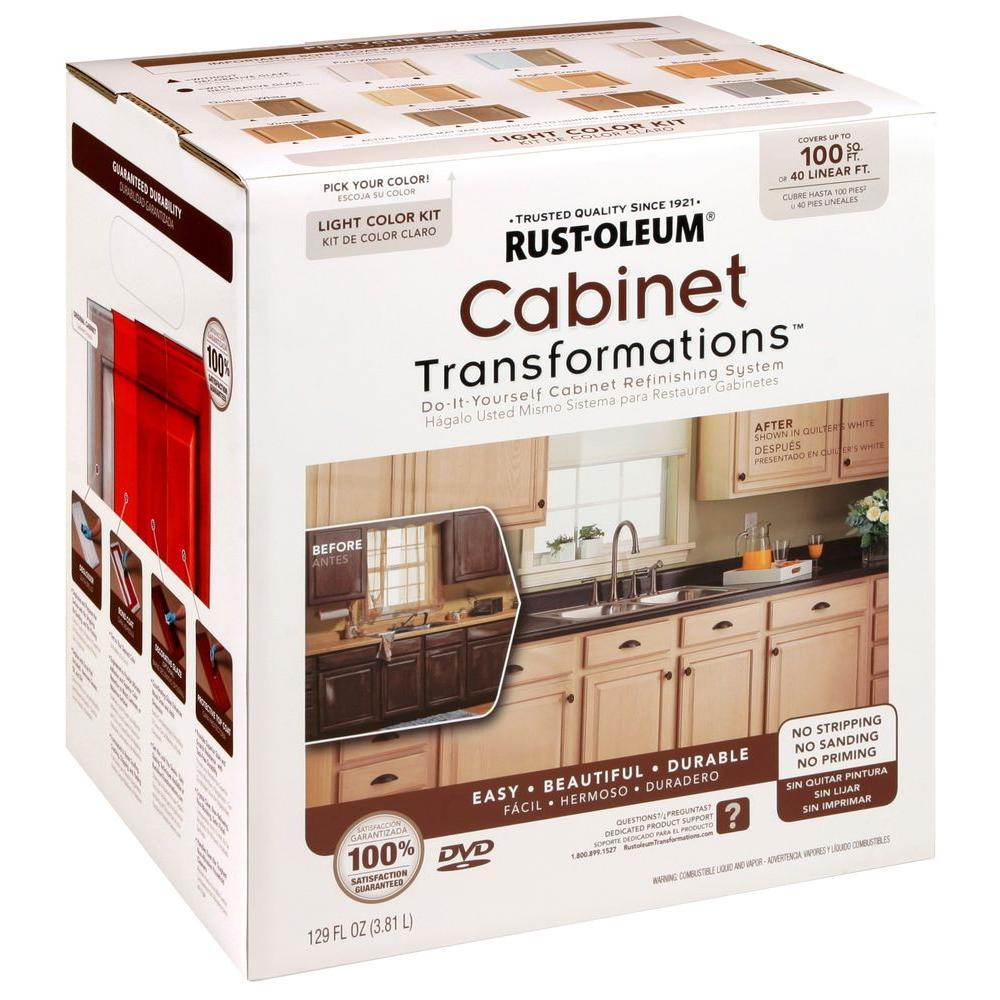 Kitchen Cabinets Painting Kits: Rust-Oleum Transformations Light Color Cabinet Kit (9