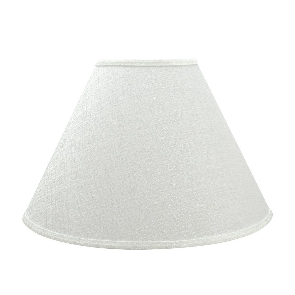 18 in. x 12.5 in. Off White Hardback Empire Lamp Shade