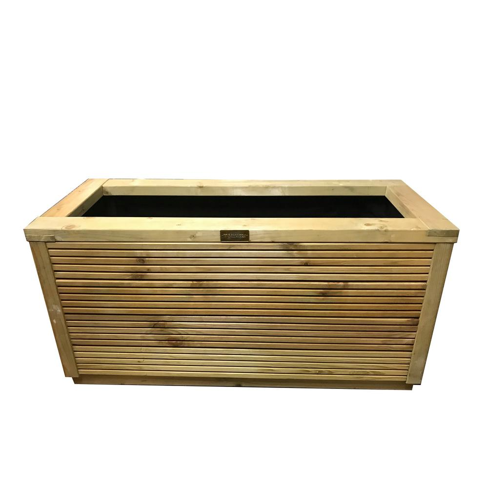 40 In W X 16 In D X 20 In H Urban Rectangular Wood Planter A066