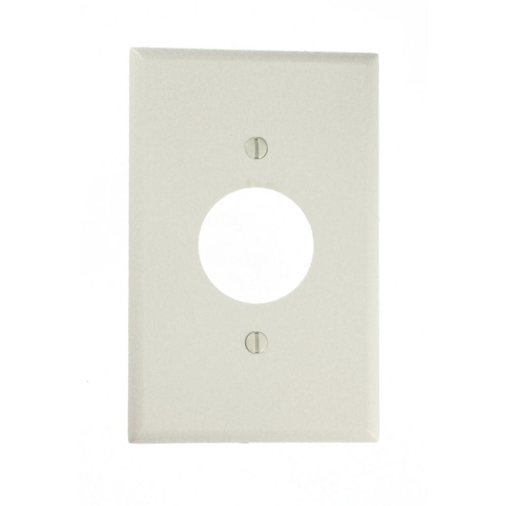 Leviton 1-Gang Midway Size Plastic Wall Plate and 1-Single Receptacle in White  sc 1 st  Home Depot & Leviton 1-Gang Midway Size Plastic Wall Plate and 1-Single ...