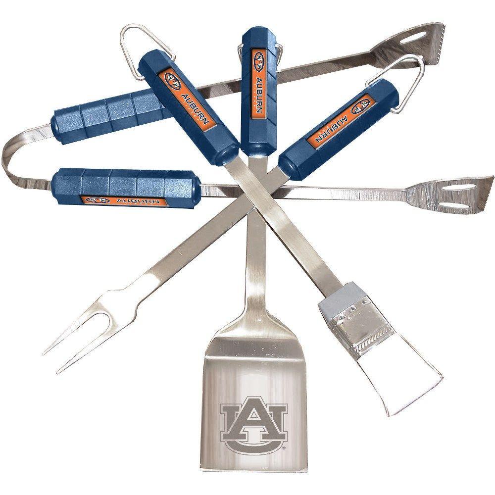 NCAA Auburn Tigers 4-Piece Grill Tool Set
