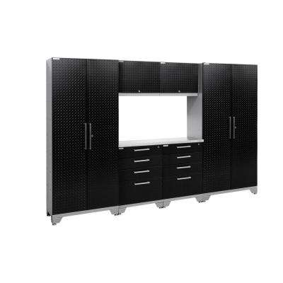 Performance Diamond Plate 2.0 72 in. H x 108 in. W x 18 in. D Garage Cabinet Set in Black (7-Piece)