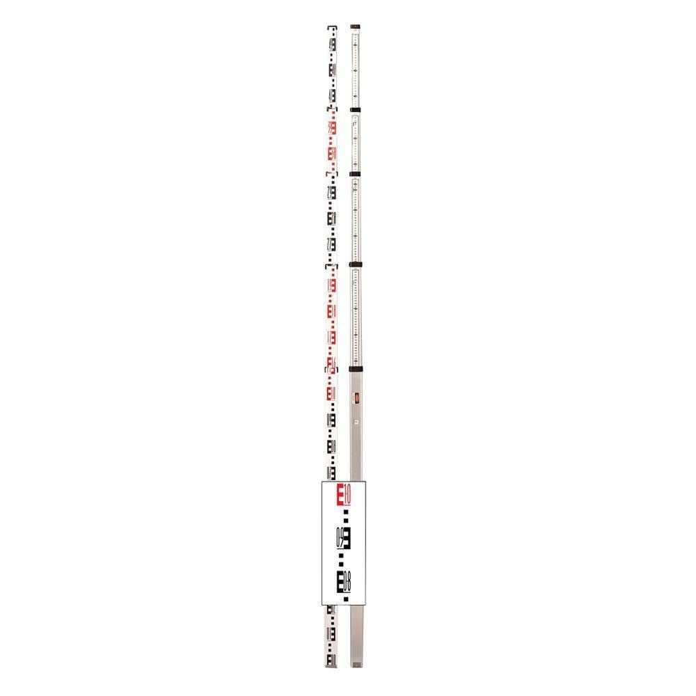5-Meter 5-Section Aluminum Telescoping Rod Graduated in 1/2 cm and mm