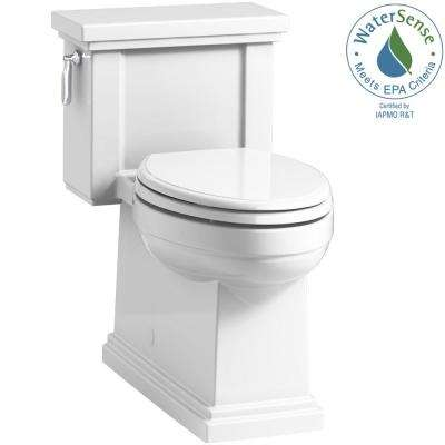 Tresham 1-piece 1.28 GPF Single Flush Elongated Toilet with AquaPiston Flush Technology in White