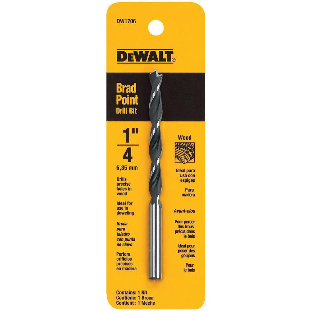 DEWALT 1/4 in. Steel Brad Point Drill Bit