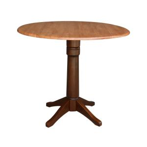 Olivia Cinnamon and Espresso 42 in. Drop-leaf Counter-height Table