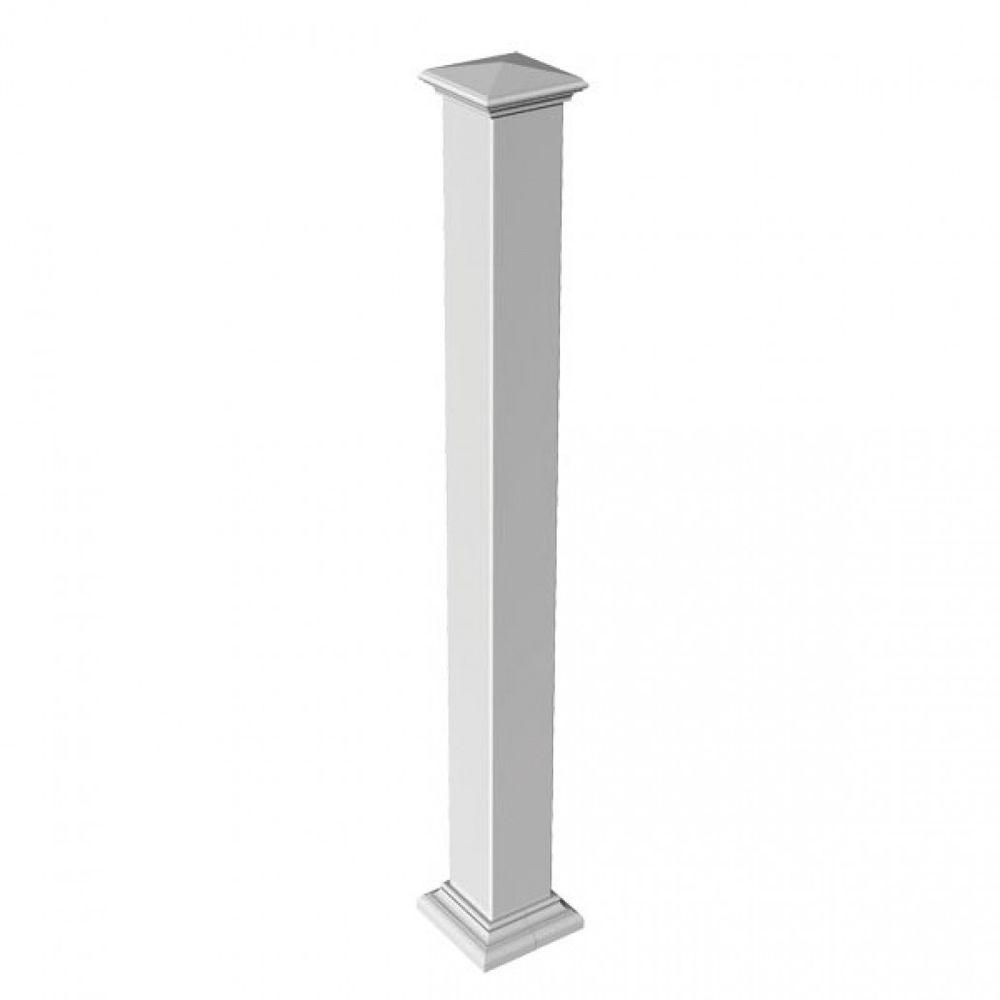 3-3/4 in. x 3-3/4 in. x 3 ft. Blank White Metal
