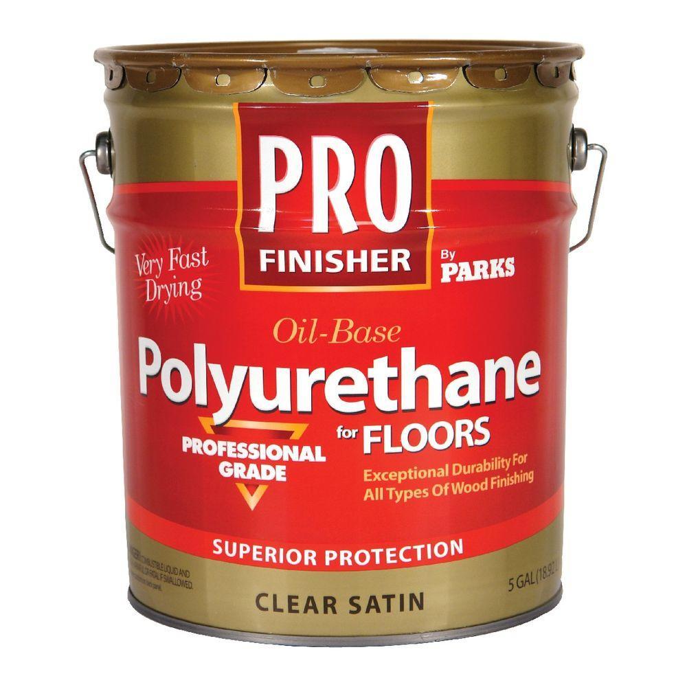 Rust-Oleum Parks Pro Finisher 5 gal  Clear Satin 450 VOC Oil-Based Interior  Polyurethane for Floors
