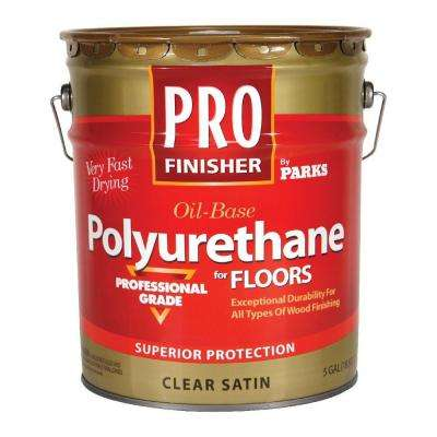 Pro Finisher 5 gal. Clear Satin 450 VOC Oil-Based Interior Polyurethane for Floors