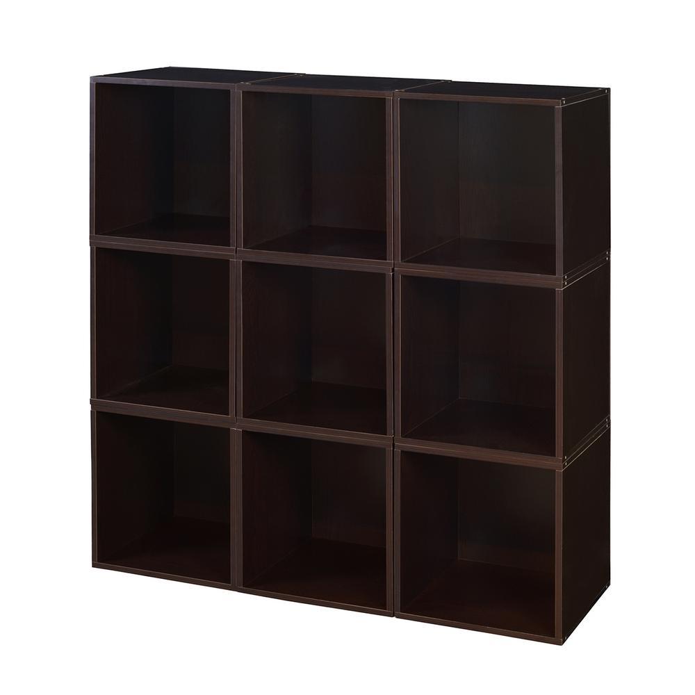 Cubo 39 in. x 39 in. Truffle Modular 9-Cube Organizer