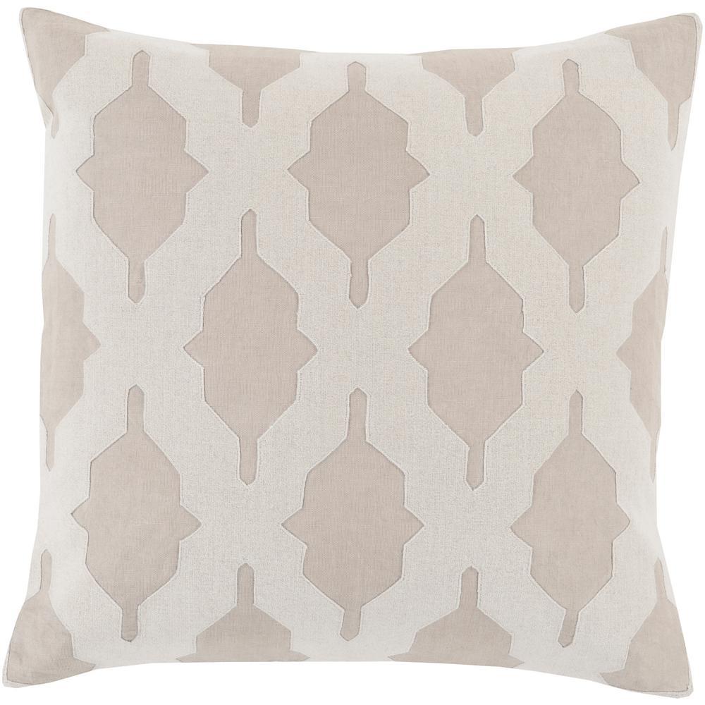 Pyla Grey Geometric Polyester 18 in. x 18 in. Throw Pillow