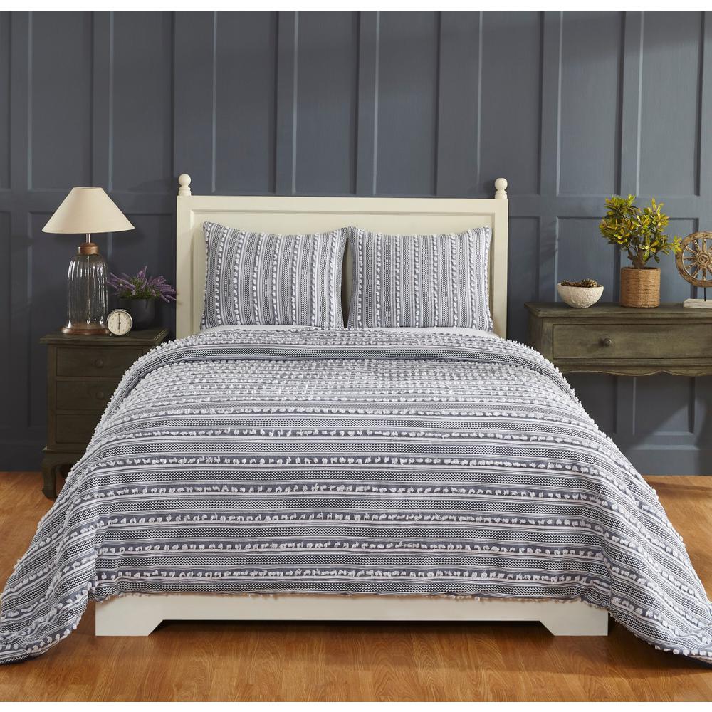 Better Trendz Anglique Navy King Comforter SS-QUANKINV
