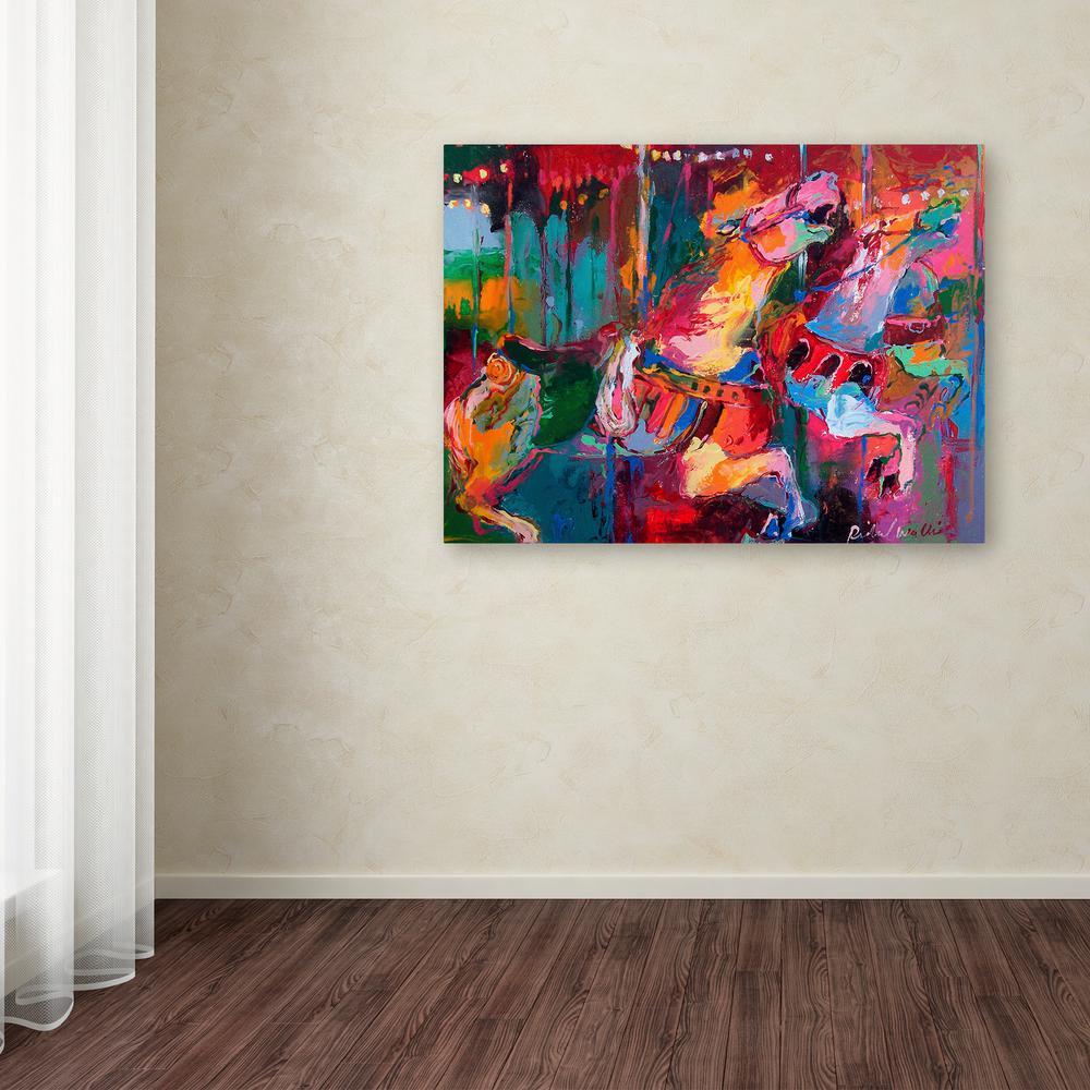 "35 in. x 47 in. ""Artcar 4"" by Richard Wallich Printed Canvas Wall Art"