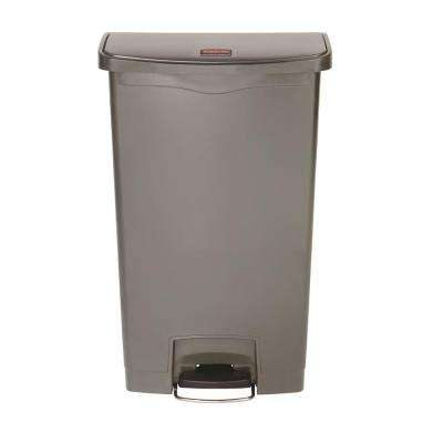 Slim Jim Step-On 18 Gal. Gray Plastic Front Step Trash Can