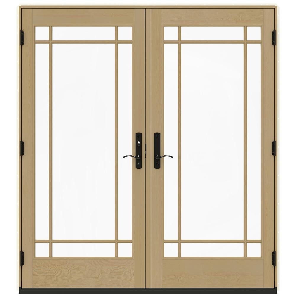 Jeld wen 72 in x 80 in w 4500 vanilla clad wood right for 14 x 80 interior door