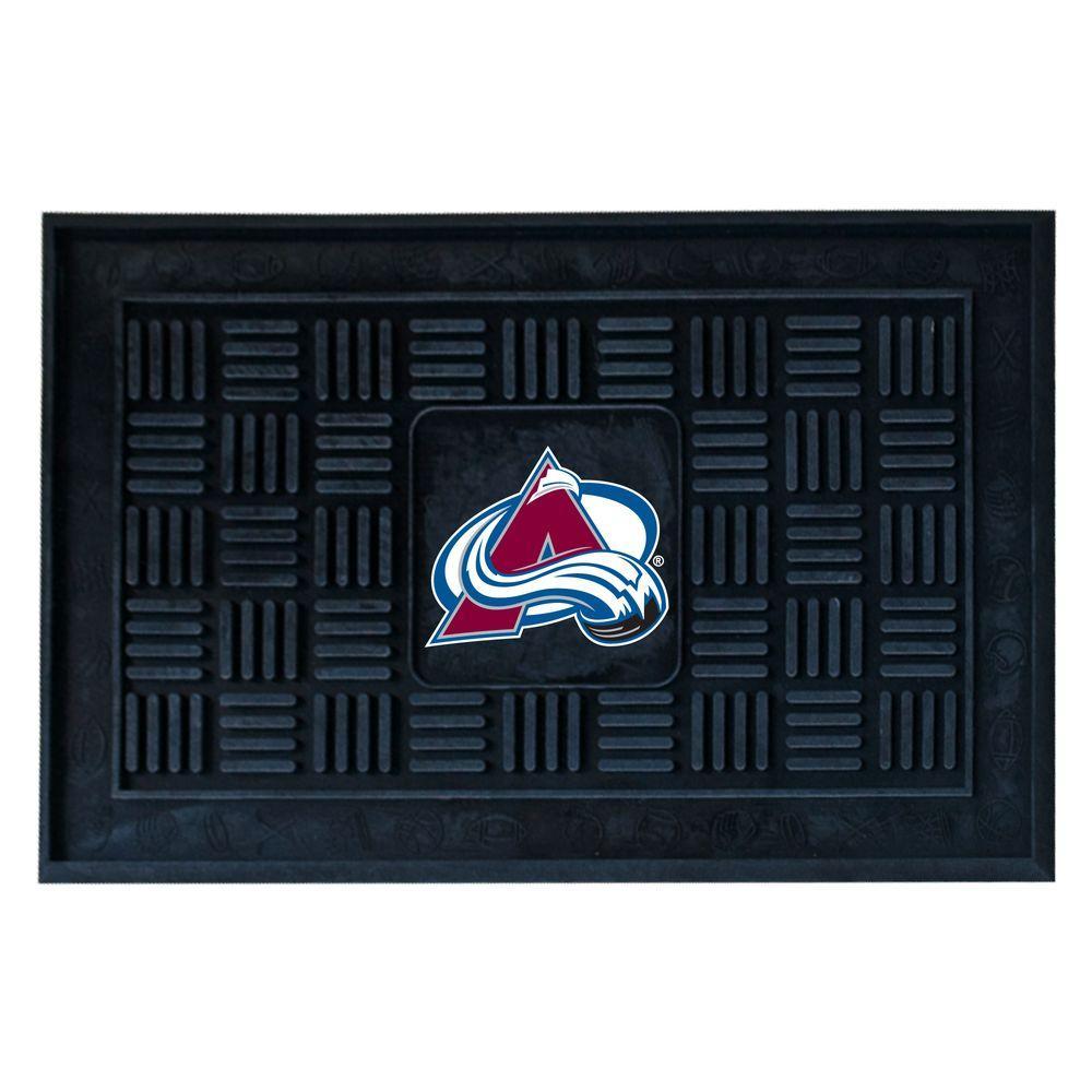 NHL Colorado Avalanche Black 1 ft. 7 in. x 2 ft. 6 in. Indoor/Outdoor Vinyl Door Mat