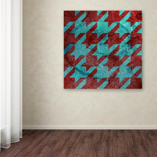 Trademark Fine Art 14 in. x 14 in. ''Houndstooth IV'' by