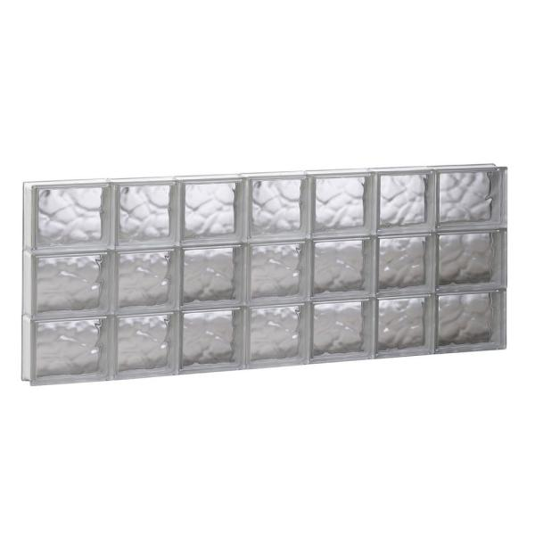 Clearly Secure 46 5 In X 17 25 In X 3 125 In Frameless Diamond Pattern Non Vented Glass Block Window 4818sdp The Home Depot