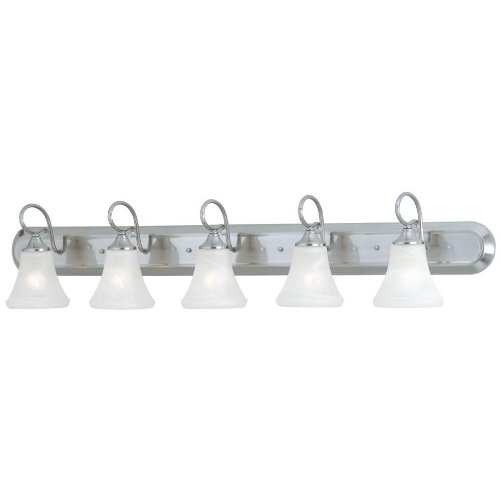 Elipse 5-Light Brushed Nickel Wall Vanity Light