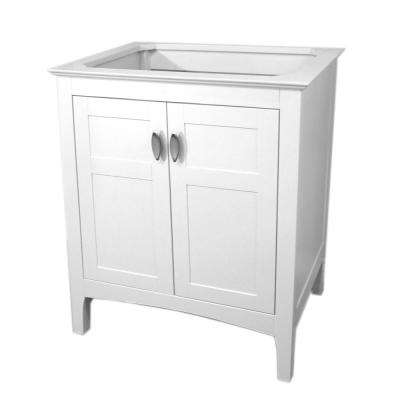 Oceanside 29 in. W x 21.3 in. D Single Bath Vanity Cabinet Only in White without Vanity Top