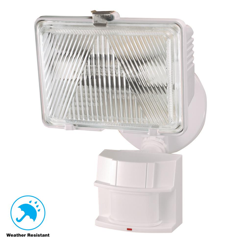 180-Degree White Motion Activated Outdoor Flood Light-HZ