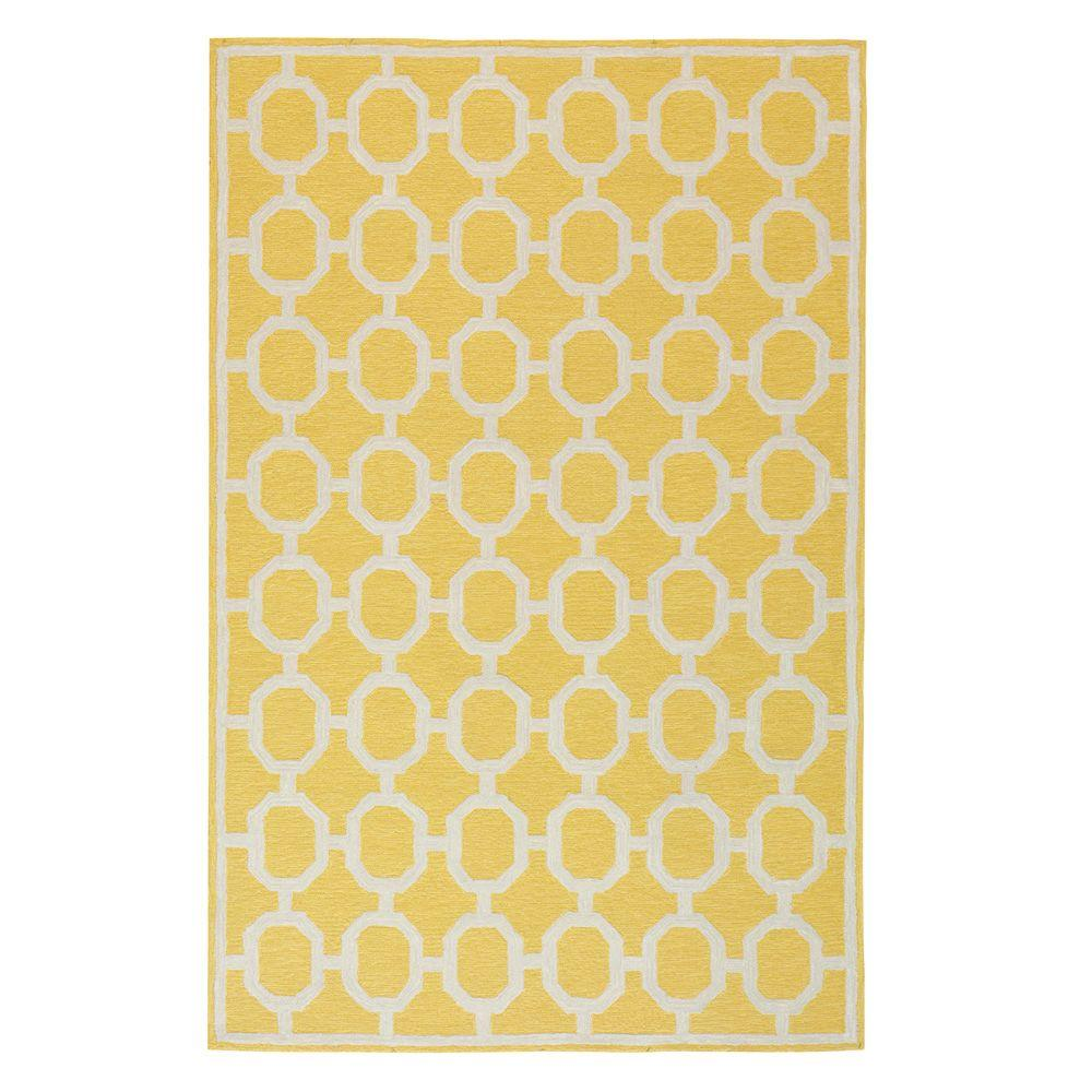 Espana Yellow 3 ft. 6 in. x 5 ft. 6 in. Area Rug