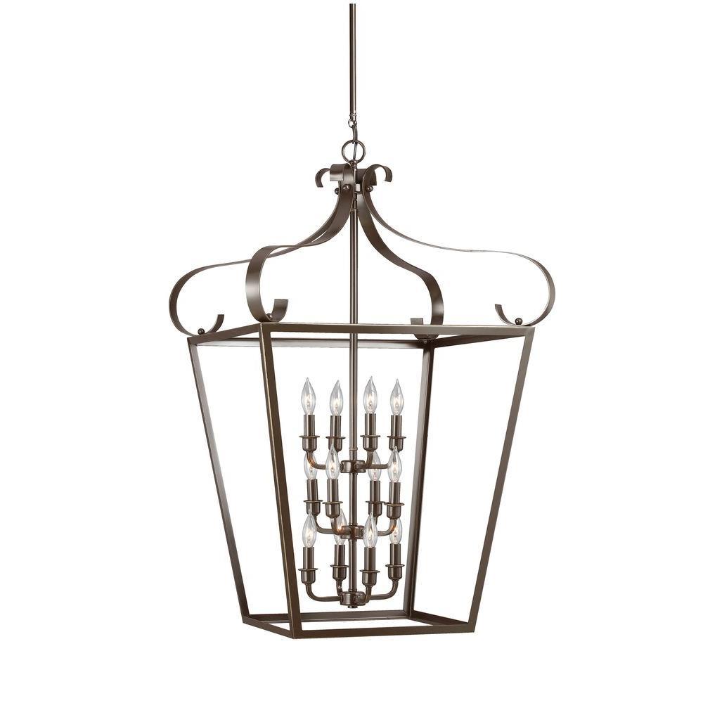 Lockheart 12-Light Heirloom Bronze Indoor Pendant