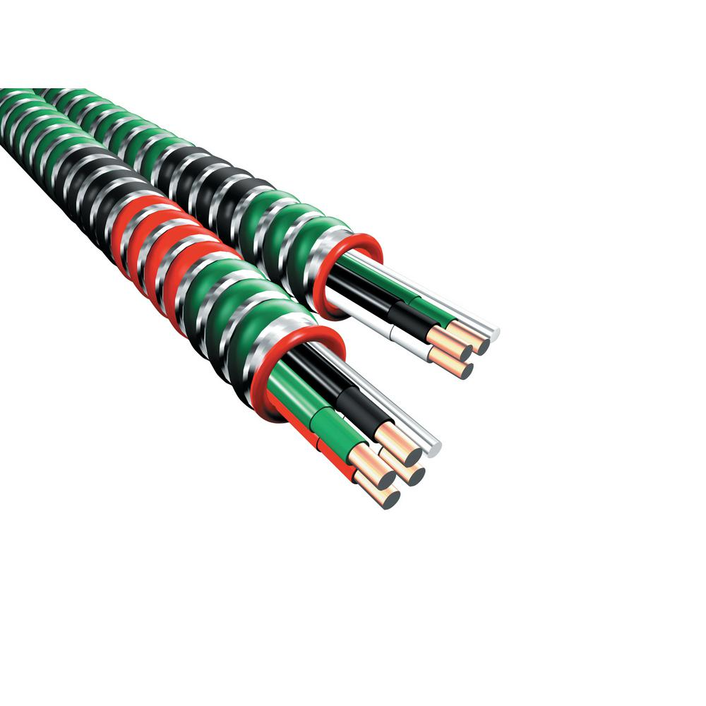 Mc Wire Electrical The Home Depot Electrician House Wiring 250 Ft 12 3 Gauge Healthcare Facilities Coil With Green Armor