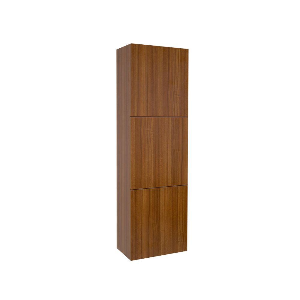 Fresca 17-3/4 in. W x 59 in. H x 12 in. D 3-Door Bathroom Linen ...