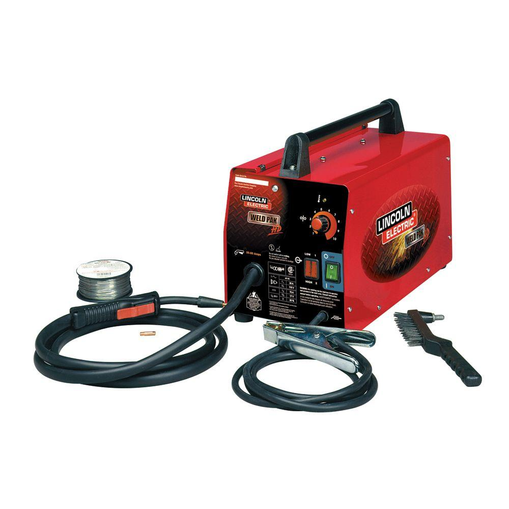 lincoln electric 88 amp weld pack hd flux core wire feed welder for
