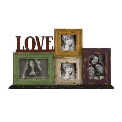 Lenor 4-Opening 14 in. x 24 in. Multicolored Love Picture Frame Collage