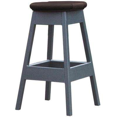 14 in. x 14 in. x 24 in. Bar Stool in Smoke for Spa Bar