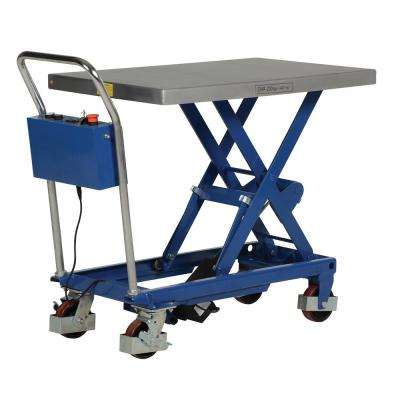 400 lb. Capacity 23.625 x 35.5 in. Linear Elevating Cart