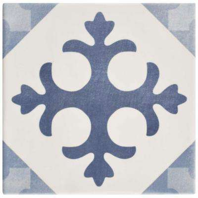 Atelier Azul Latin Encaustic 5-7/8 in. x 5-7/8 in. Ceramic Floor and Wall Tile (5.73 sq. ft. / case)