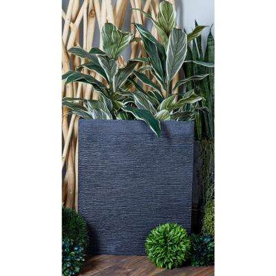 Black Fiber Clay Rectangular Planters (Set of 2)