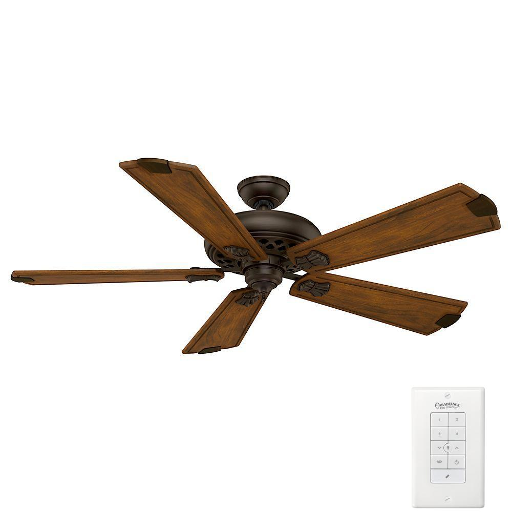 Casablanca Fellini 60 in. Indoor Brushed Cocoa Bronze Ceiling Fan with Remote